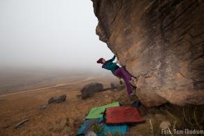sani Pass bouldern