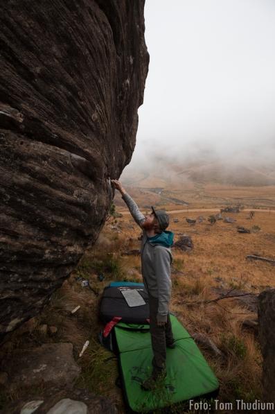 Boulder putzen sani pass