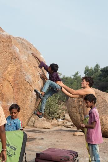 Bouldern mit den Chai kids