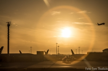 Heathrow Sonnenuntergang
