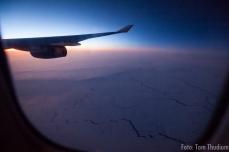 Shelfeis Baffin Island (sonnen auf/Untergang)