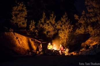 Lagerfeuer mit Marc und Nadja