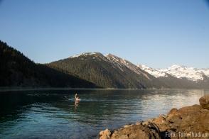 Garibaldy lake und nicht so hübscher Kerl (Quotennacktbild)