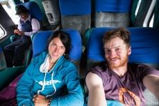 Bus nach Cerro de Pasco (fertig nach dem Flug)