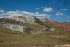 Erosion in bunten Farben